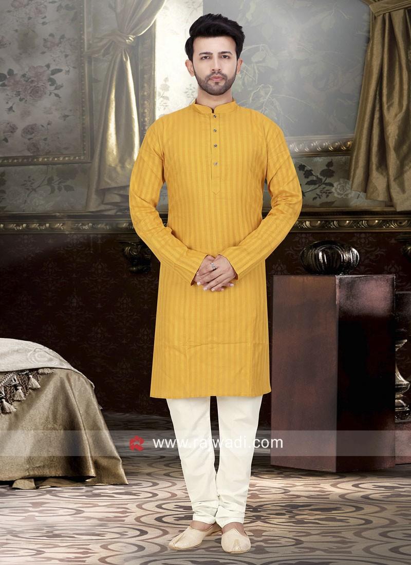 Charming Mustard Yellow Color Kurta Pajama