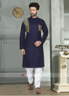 Navy Color Kurta Pajama For Eid