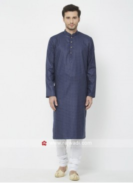 Navy Color Kurta Pajama For Mens
