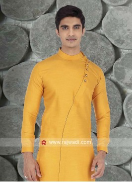 Mustard Yellow Color Kurta For Mens