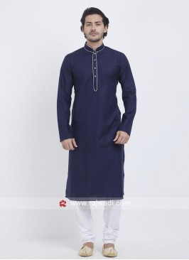 Navy Color Kurta Pajama For Party