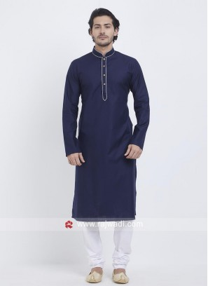 Navy Color Kurta Pajama For Party