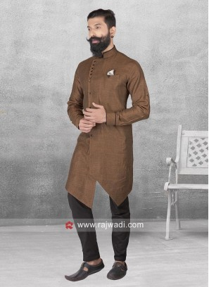 Attractive Brown Color Pathani Set