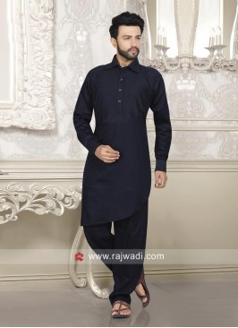 Navy Color Pathani For Eid