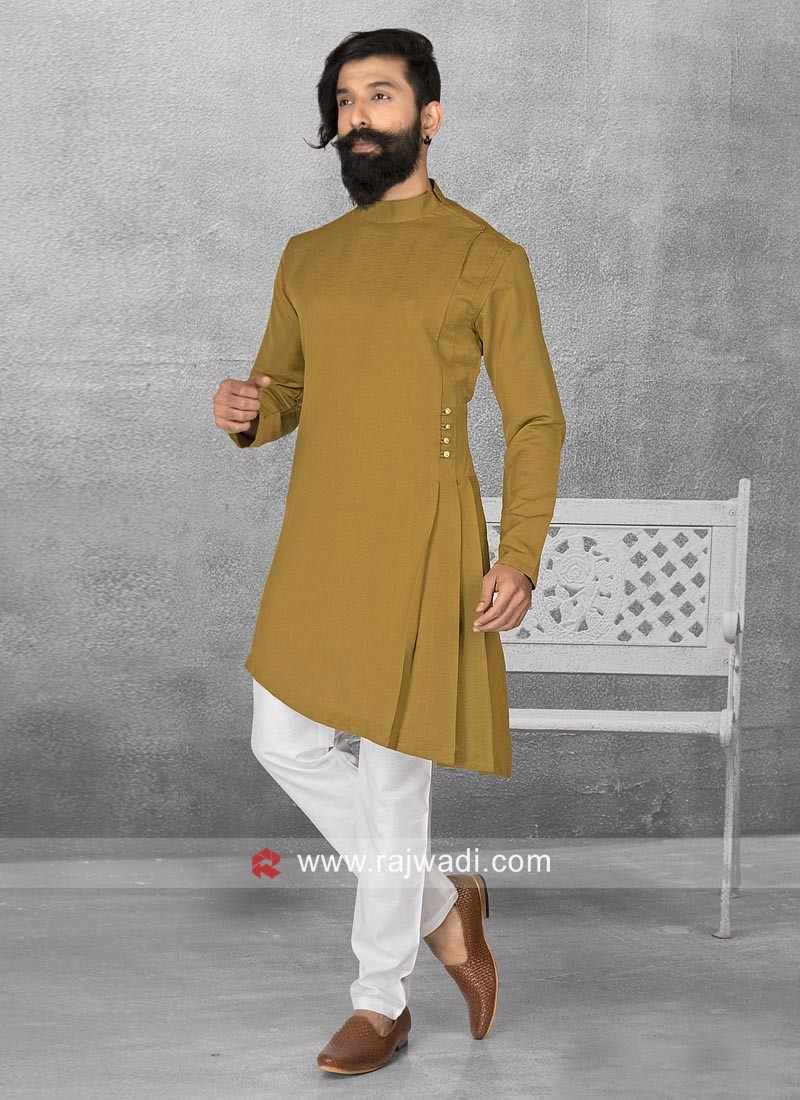 Golden Color Pathani Set