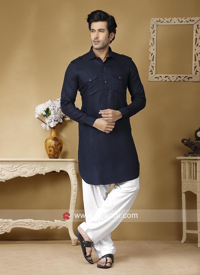 Navy Color Pathani Set