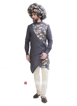 Designer Grey Color Indo Western