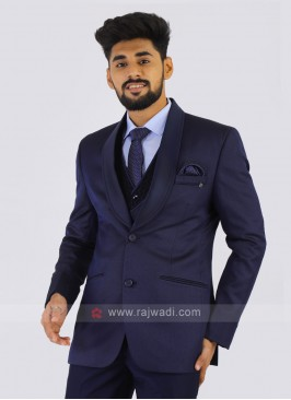 Navy Imported Party Wear Suit