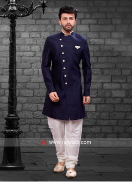 Navy Indo Western For Party