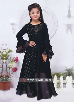 Navy Salwar Suit for Kids