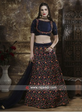 Navy Thread Work Lehenga Choli