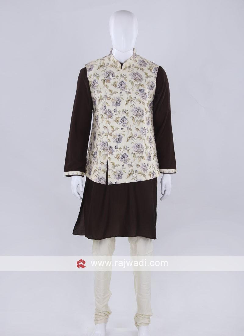 Nehru jacket with kurta set