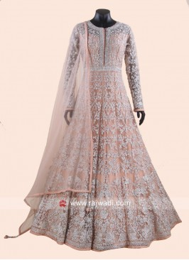 Net Anarkali Gown with Dupatta