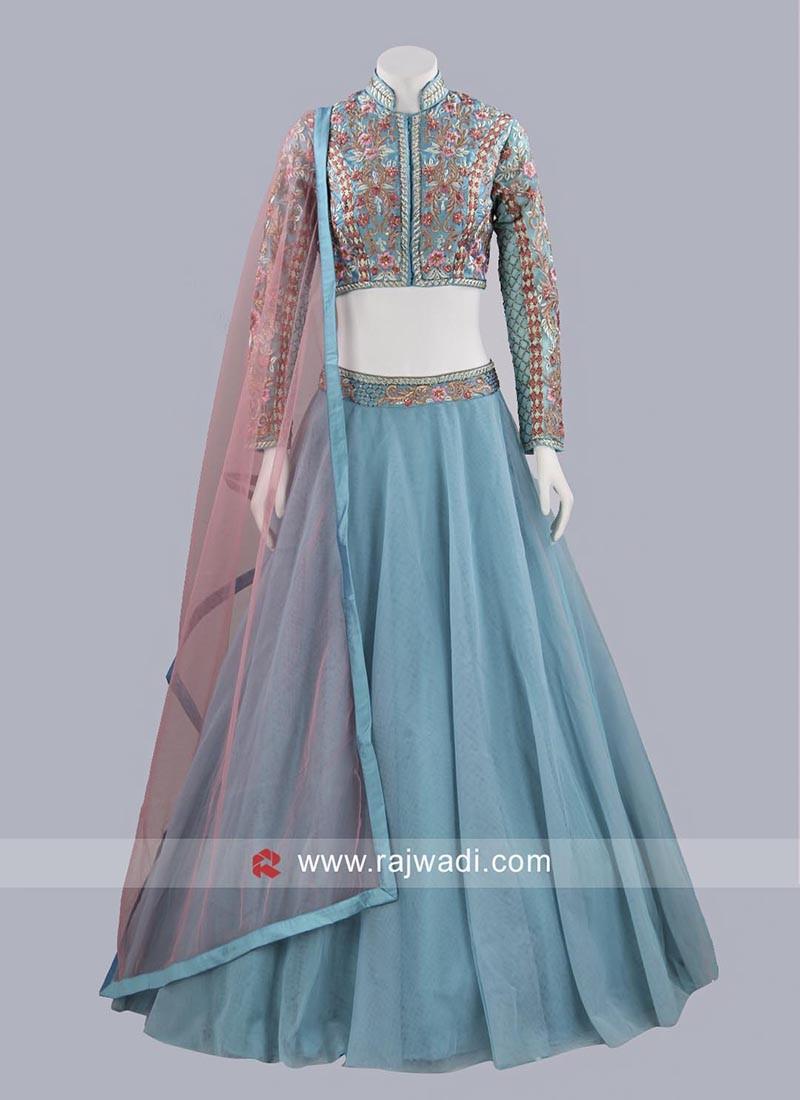 Net and Art Silk Lehenga Choli