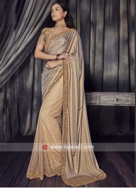 Net and Lycra Designer Saree
