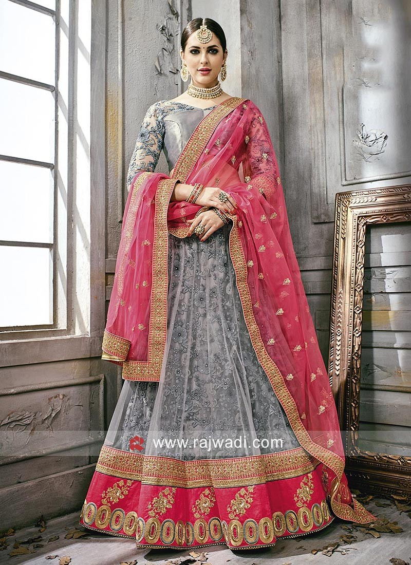 Net and Silk Designer Lehenga Choli