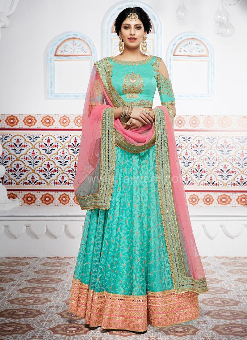 93283751a9 Net and Silk Wedding Designer Lehenga Saree