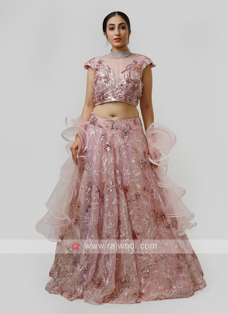 Net Choli Suit For Wedding