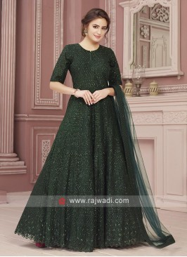 Net Designer Anarkali Suit