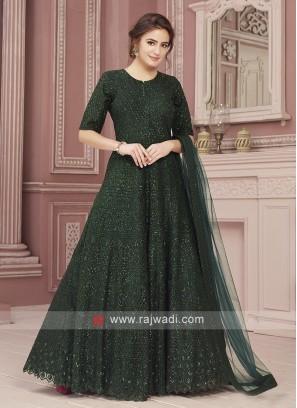 Net Designer Anarkali Suit
