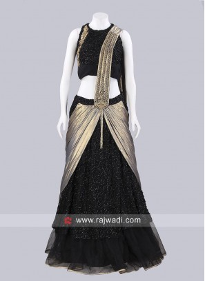 Net Designer Choli Suit