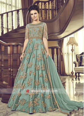 Net Designer Floor Length Eid Anarkali Suit