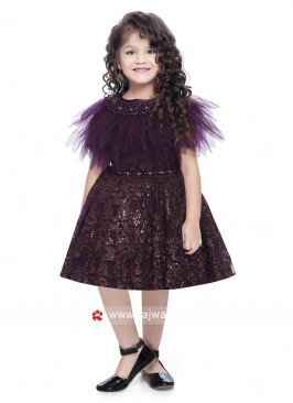 Net Designer Gown for Kids