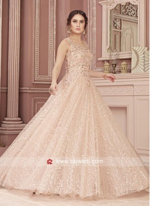 Net Designer Gown For Wedding