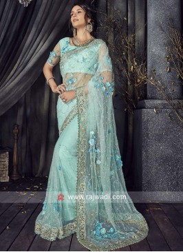 Net Designer Saree with Blouse