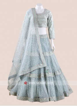 Net Designer Wedding Lehenga Set