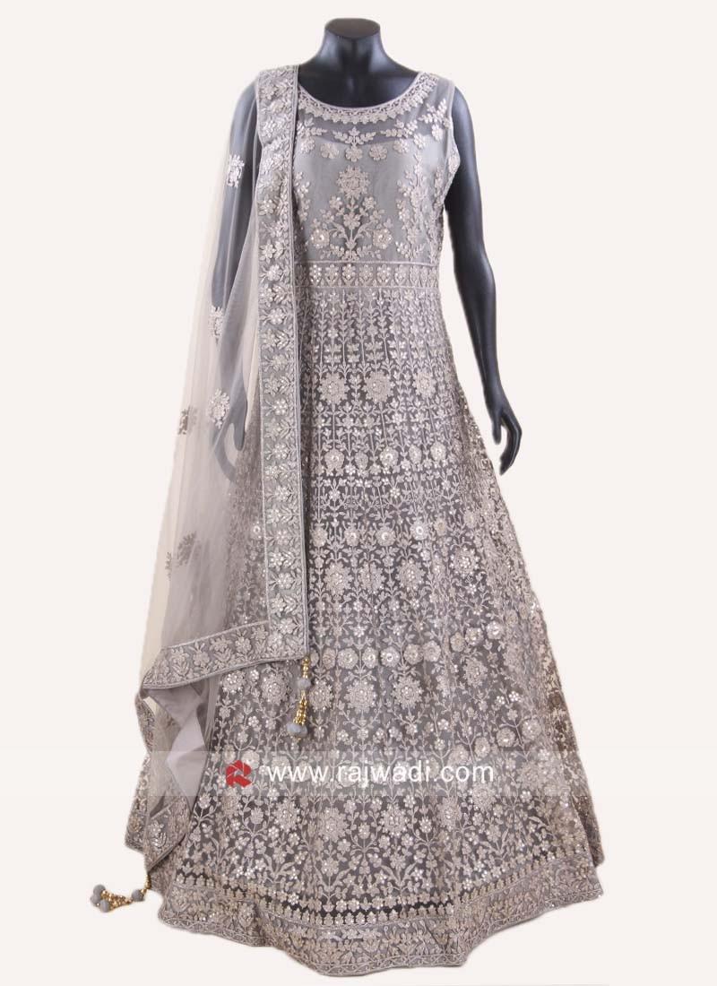 Net Embroidered Anarkali Salwar Kameez