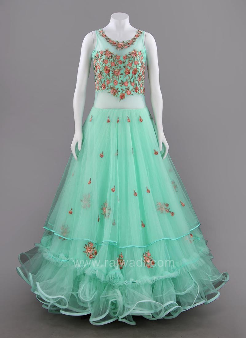 Net Embroidered Fairytale Gown