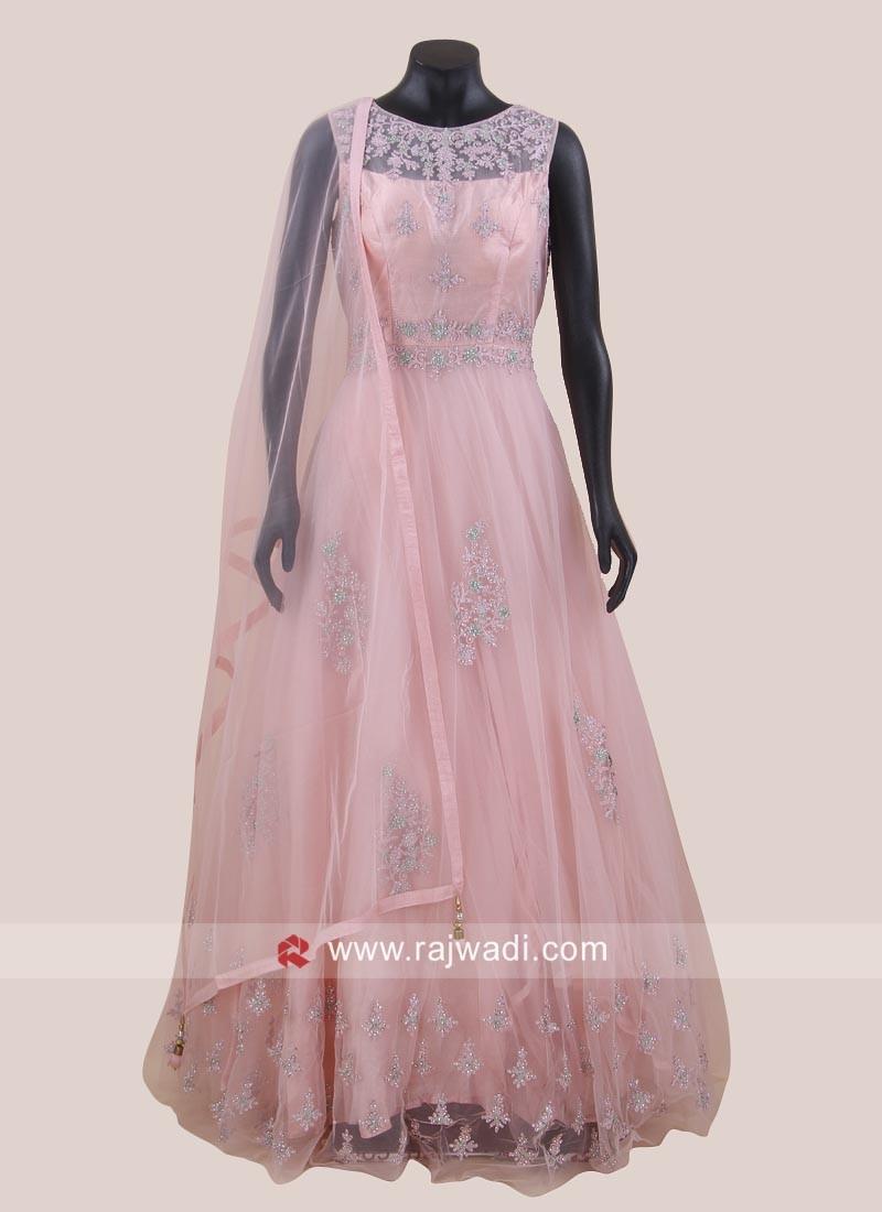 Net Embroidered Wedding Anarkali Suit
