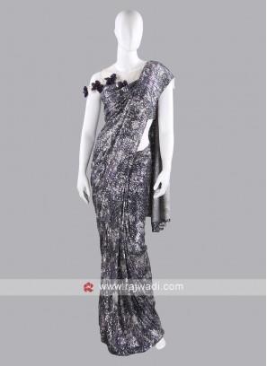 Net fabric multi color saree