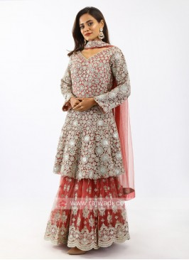 Net Gharara Suit