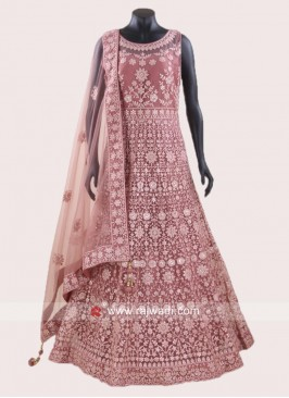 Net Heavy Embroidered Anarkali Dress