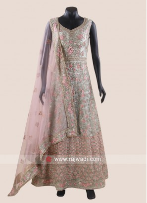 Net Heavy Embroidered Anarkali Suit