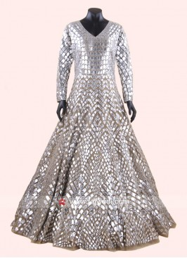 Net Heavy Embroidered Gown