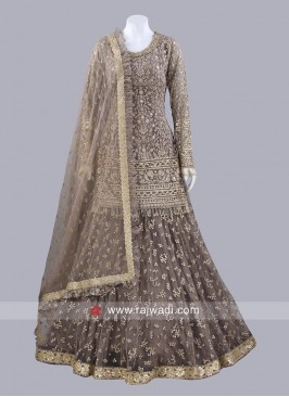 Net Heavy Embroidered Lehenga Set