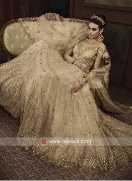 Net Heavy Embroidered Salwar Suit for Eid