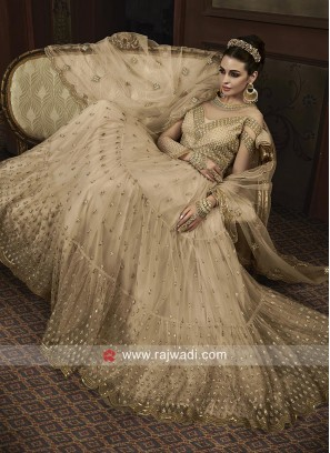 Net Heavy Embroidered Salwar Suit for Wedding