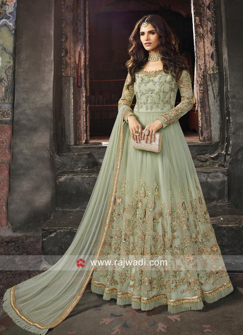 Net Heavy Embroidery Anarkali Suit