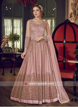 Heavy Embroidery Anarkali Suit For Wedding