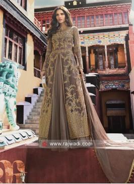 Net Heavy Embroidery Lehenga Style Suit