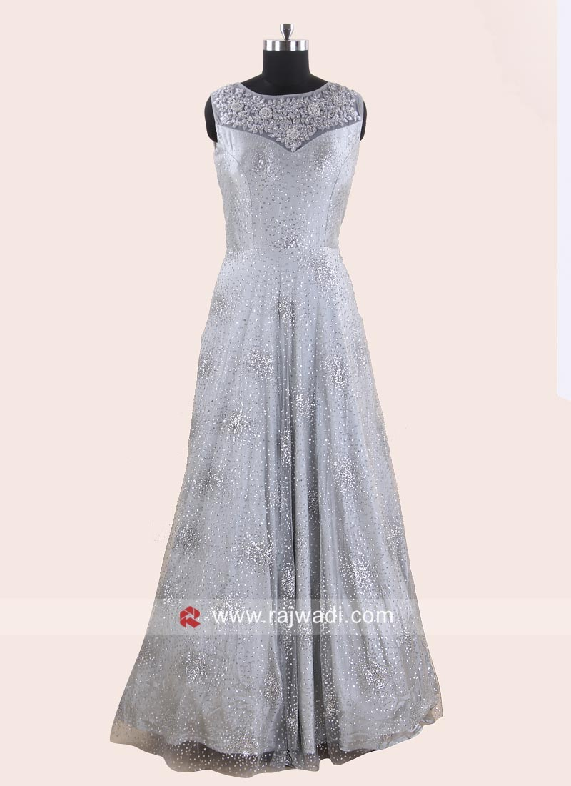 Net Heavy Evening Party Gown