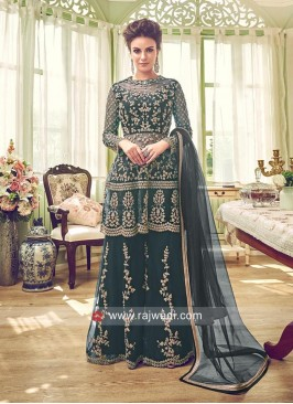 Net Heavy Wedding Palazzo Suit