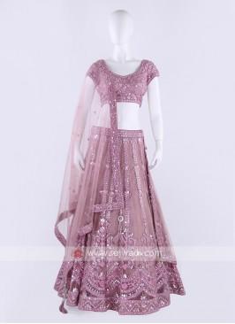 Net Lehenga Choli In Light Pink