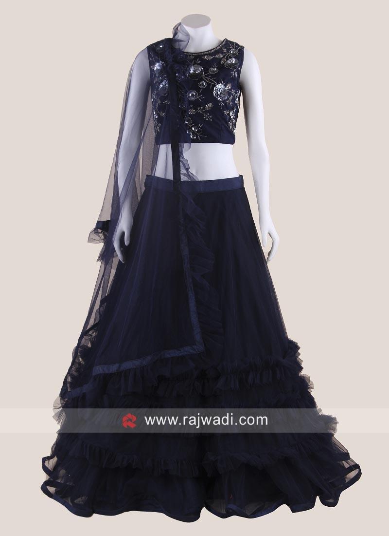 Net Multi Layer Wedding Lehenga Choli
