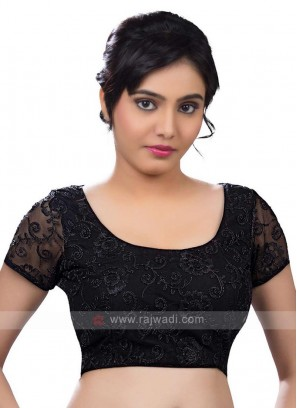 Net Ready Blouse In Black