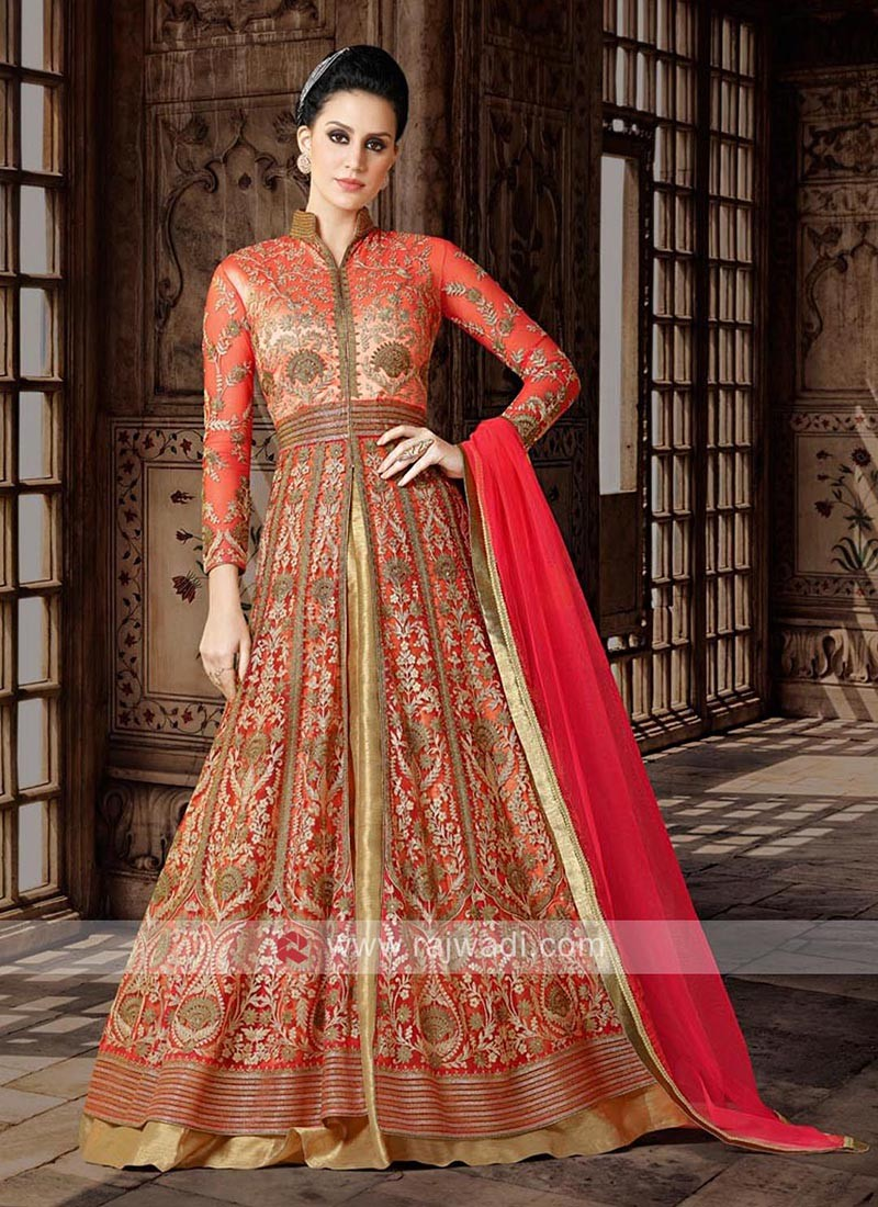 Net Red Heavy Semi Stitched Suit